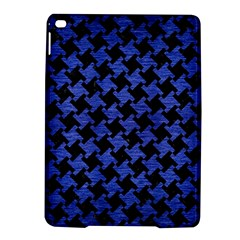 Houndstooth2 Black Marble & Blue Brushed Metal Apple Ipad Air 2 Hardshell Case by trendistuff