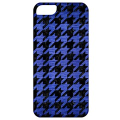Houndstooth1 Black Marble & Blue Brushed Metal Apple Iphone 5 Classic Hardshell Case by trendistuff