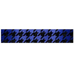 Houndstooth1 Black Marble & Blue Brushed Metal Flano Scarf (large) by trendistuff