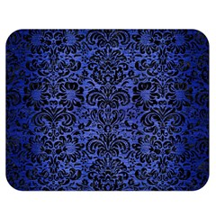 Damask2 Black Marble & Blue Brushed Metal (r) Double Sided Flano Blanket (medium) by trendistuff