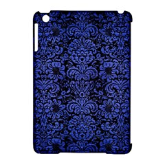 Damask2 Black Marble & Blue Brushed Metal Apple Ipad Mini Hardshell Case (compatible With Smart Cover) by trendistuff