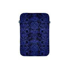 Damask2 Black Marble & Blue Brushed Metal Apple Ipad Mini Protective Soft Case by trendistuff