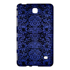 Damask2 Black Marble & Blue Brushed Metal Samsung Galaxy Tab 4 (7 ) Hardshell Case  by trendistuff