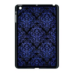 Damask1 Black Marble & Blue Brushed Metal Apple Ipad Mini Case (black) by trendistuff