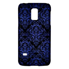 Damask1 Black Marble & Blue Brushed Metal Samsung Galaxy S5 Mini Hardshell Case  by trendistuff