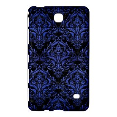 Damask1 Black Marble & Blue Brushed Metal Samsung Galaxy Tab 4 (7 ) Hardshell Case  by trendistuff