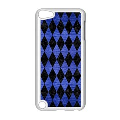 Diamond1 Black Marble & Blue Brushed Metal Apple Ipod Touch 5 Case (white) by trendistuff