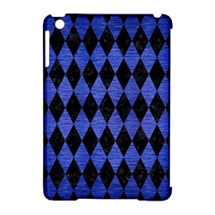 Diamond1 Black Marble & Blue Brushed Metal Apple Ipad Mini Hardshell Case (compatible With Smart Cover) by trendistuff