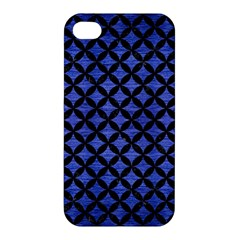 Circles3 Black Marble & Blue Brushed Metal (r) Apple Iphone 4/4s Hardshell Case by trendistuff