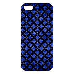 Circles3 Black Marble & Blue Brushed Metal (r) Apple Iphone 5 Premium Hardshell Case by trendistuff
