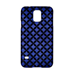 Circles3 Black Marble & Blue Brushed Metal (r) Samsung Galaxy S5 Hardshell Case  by trendistuff