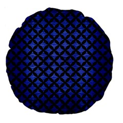 Circles3 Black Marble & Blue Brushed Metal (r) Large 18  Premium Flano Round Cushion  by trendistuff
