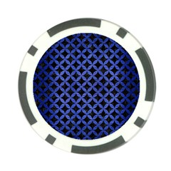 Circles3 Black Marble & Blue Brushed Metal Poker Chip Card Guard (10 Pack) by trendistuff