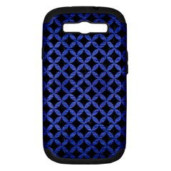 Circles3 Black Marble & Blue Brushed Metal Samsung Galaxy S Iii Hardshell Case (pc+silicone) by trendistuff
