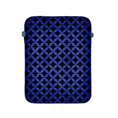 Circles3 Black Marble & Blue Brushed Metal Apple Ipad 2/3/4 Protective Soft Case by trendistuff