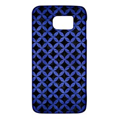 Circles3 Black Marble & Blue Brushed Metal Samsung Galaxy S6 Hardshell Case  by trendistuff