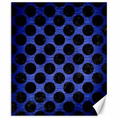 Circles2 Black Marble & Blue Brushed Metal (r) Canvas 8  X 10  by trendistuff