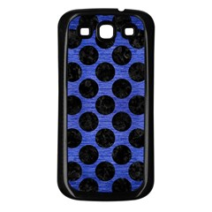 Circles2 Black Marble & Blue Brushed Metal (r) Samsung Galaxy S3 Back Case (black) by trendistuff