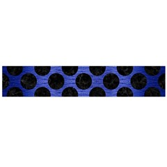Circles2 Black Marble & Blue Brushed Metal (r) Flano Scarf (large) by trendistuff