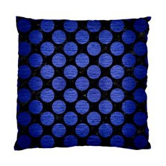 Circles2 Black Marble & Blue Brushed Metal Standard Cushion Case (two Sides) by trendistuff