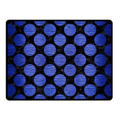 Circles2 Black Marble & Blue Brushed Metal Fleece Blanket (small) by trendistuff