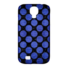 Circles2 Black Marble & Blue Brushed Metal Samsung Galaxy S4 Classic Hardshell Case (pc+silicone) by trendistuff