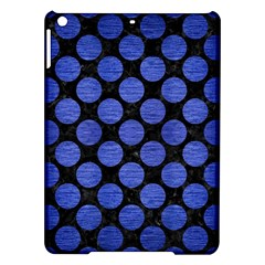 Circles2 Black Marble & Blue Brushed Metal Apple Ipad Air Hardshell Case by trendistuff