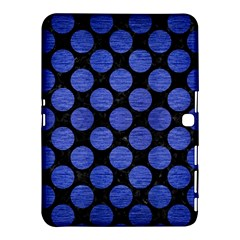 Circles2 Black Marble & Blue Brushed Metal Samsung Galaxy Tab 4 (10 1 ) Hardshell Case  by trendistuff