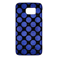 Circles2 Black Marble & Blue Brushed Metal Samsung Galaxy S6 Hardshell Case  by trendistuff
