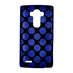Circles2 Black Marble & Blue Brushed Metal Lg G4 Hardshell Case by trendistuff
