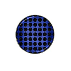 Circles1 Black Marble & Blue Brushed Metal (r) Hat Clip Ball Marker (10 Pack) by trendistuff