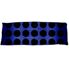 Circles1 Black Marble & Blue Brushed Metal (r) Body Pillow Case Dakimakura (two Sides) by trendistuff
