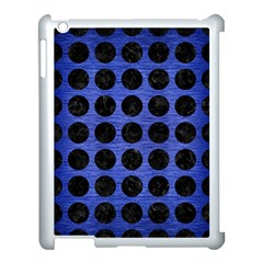 Circles1 Black Marble & Blue Brushed Metal (r) Apple Ipad 3/4 Case (white) by trendistuff