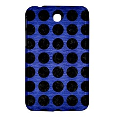 Circles1 Black Marble & Blue Brushed Metal (r) Samsung Galaxy Tab 3 (7 ) P3200 Hardshell Case  by trendistuff