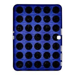 Circles1 Black Marble & Blue Brushed Metal (r) Samsung Galaxy Tab 4 (10 1 ) Hardshell Case  by trendistuff
