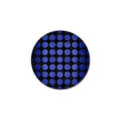 Circles1 Black Marble & Blue Brushed Metal Golf Ball Marker (10 Pack) by trendistuff