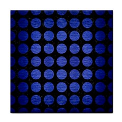 Circles1 Black Marble & Blue Brushed Metal Face Towel by trendistuff