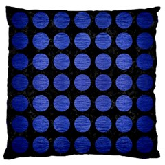 Circles1 Black Marble & Blue Brushed Metal Large Cushion Case (two Sides) by trendistuff