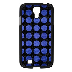 Circles1 Black Marble & Blue Brushed Metal Samsung Galaxy S4 I9500/ I9505 Case (black) by trendistuff