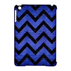 Chevron9 Black Marble & Blue Brushed Metal (r) Apple Ipad Mini Hardshell Case (compatible With Smart Cover) by trendistuff