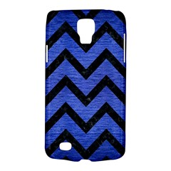 Chevron9 Black Marble & Blue Brushed Metal (r) Samsung Galaxy S4 Active (i9295) Hardshell Case by trendistuff