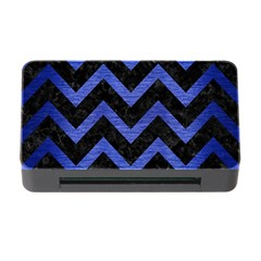 Chevron9 Black Marble & Blue Brushed Metal Memory Card Reader With Cf by trendistuff