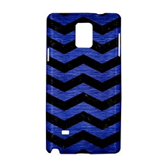 Chevron3 Black Marble & Blue Brushed Metal Samsung Galaxy Note 4 Hardshell Case by trendistuff
