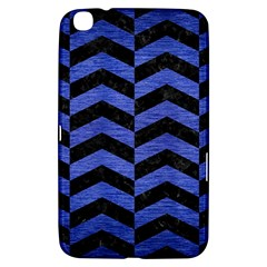 Chevron2 Black Marble & Blue Brushed Metal Samsung Galaxy Tab 3 (8 ) T3100 Hardshell Case  by trendistuff