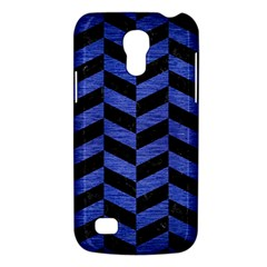 Chevron1 Black Marble & Blue Brushed Metal Samsung Galaxy S4 Mini (gt I9190) Hardshell Case  by trendistuff