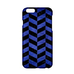 Chevron1 Black Marble & Blue Brushed Metal Apple Iphone 6/6s Hardshell Case by trendistuff