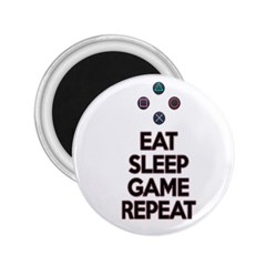 Eat Sleep Game Repeat 2 25  Magnets by Valentinaart