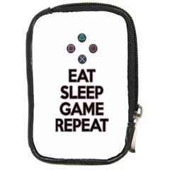 Eat Sleep Game Repeat Compact Camera Cases by Valentinaart