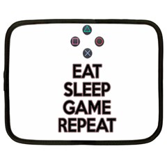 Eat Sleep Game Repeat Netbook Case (xxl)  by Valentinaart