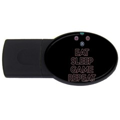 Eat Sleep Game Repeat Usb Flash Drive Oval (2 Gb) by Valentinaart